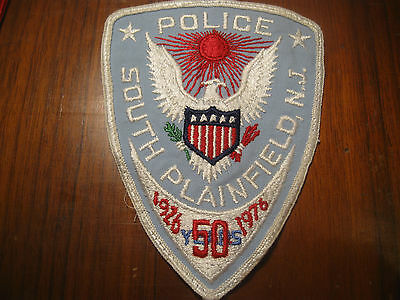 South Plainfield New Jersey Police Patch (Rare 50 Year Anniversary Patch)