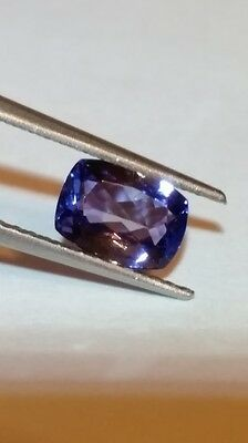 1.55ct Beutiful Cushion 2A Purple Blue Tanzanite
