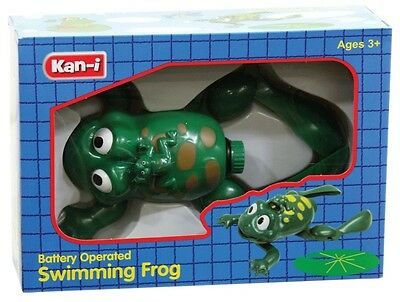 NEW Kan-i Battery Operated Swimming Frog from Mr Toys