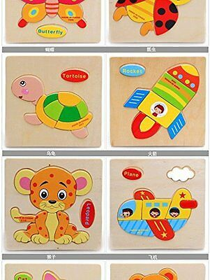 Coobl® Wooden Puzzle Educational Developmental Baby Kids Training Toy Vehicle