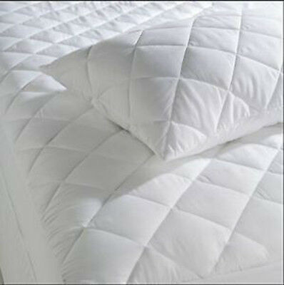 "Extra Deep Quilted Matress Protector 12"" Fitted Bed Cover:all Sizes"