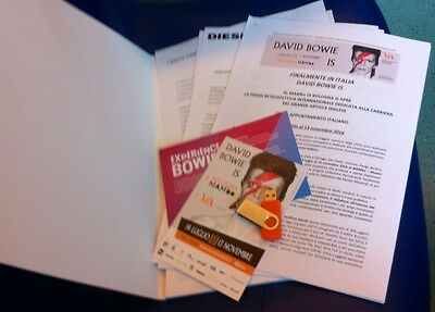 "David Bowie - ""david Bowie Is"" Press Pack !! Cartella Stampa!!"