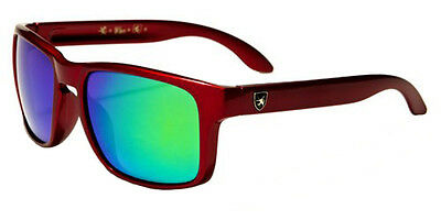 Kids Khan Retro Mirrored Sunglasses Sports Beach Lake Gafas Del Sol Lavante Red
