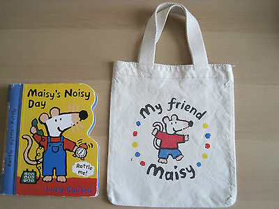 Maisy Mouse Rattle Book and Cloth Bag