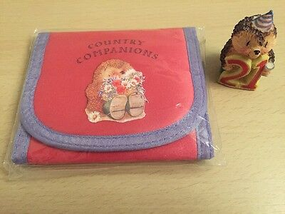 Excellent Clean Condition Hedgehog 21 Country Companions Purse Wallet BRAND NEW