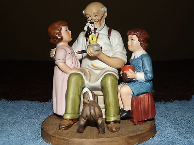 NORMAN ROCKWELL Toymaker Figurine Porcelain Collector's Club Annual Edition 1980