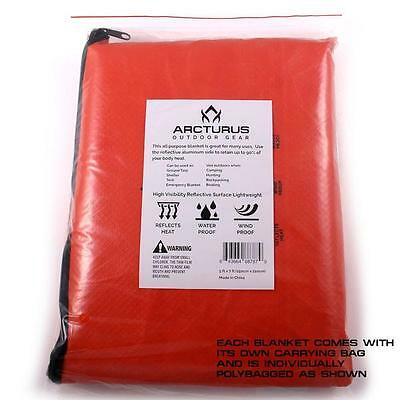 "Arcturus All Weather Outdoor Survival Blanket 60"" x 82"""