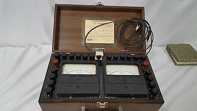 Vintage Singer Diamond Pivoted University AC/DC Volt Ammeter Model UVA in a case