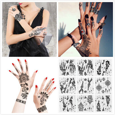 Lace transfer NEW Black henna Hand Arm Tattoo Sticker Henna Art Temporary Tattoo