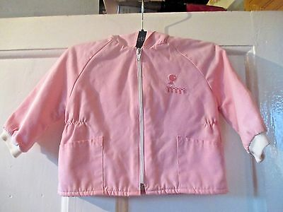 Girls vintage pink  jacket  lined hooded   Age  approx 12 -18 months