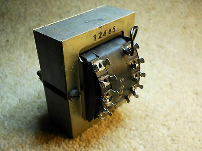 Vintage mains transformer, chassis type, used, checked.