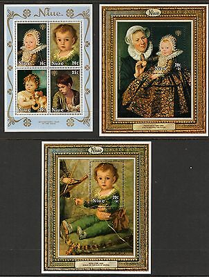 1979 Niue,Int.Yr of the Child MiniSheets,Set of 5,SGMS282-283,CV$12+,MUH,#1741