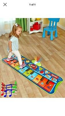 Step To Play Piano Floor Mat Kids Lighted Musical Educational Children Toy