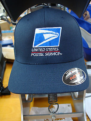 USPS, BASEBALL CAP/ HAT Yupoon Flex fit , UNITED STATES POSTAL Dark NAVY- Wool