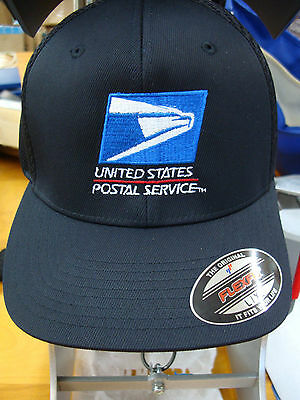 USPS, BASEBALLCAP / HAT,  Flex fit Yupoon UNITED STATES POSTAL Black -Air Mesh