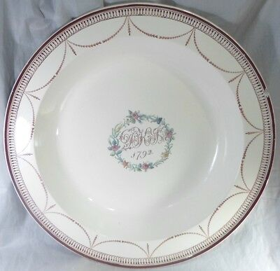 18thcentury English Creamware Leeds Liverpool Charger Swags Floral c1792 Antique