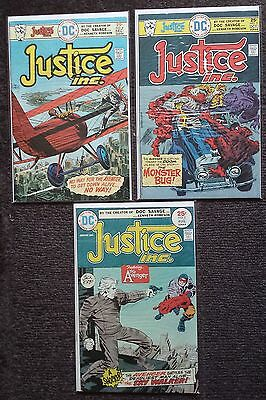 Jack Kirby's Justice Inc., Manhunter, Atlas, and Sandman - lot of 6 comics