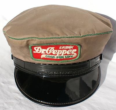 DR PEPPER Vintage Original Soda Delivery Route Driver Cap Hat Embroidered Patch