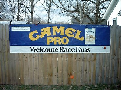 "Official 1989 Ama Camel Pro Series Flat Track ""welcome Race Fans"" Giant Banner"