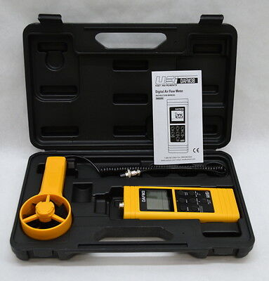 UEi Test Instruments DAFM3 Digital Airflow Meter Kit w/ Manual and Case