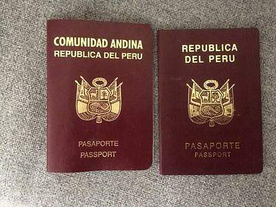 Vintage passport republica del perú 1990