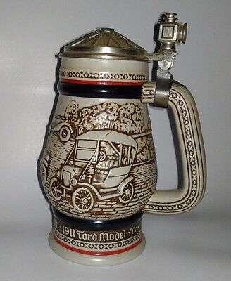 Vintage Avon Car Classics Beer Stein 1979 Handcrafted in Brazil Classic Cars G5