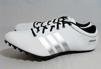 New Mens Adidas Adizero Prime SP Sprint Spikes Running Shoes White S80335