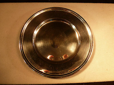 "Antique Heavy Tiffany And Co Makers Sterling Silver 6"" Bread Plate 1923 Hamilton"