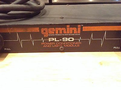 Gemini PL-90 Power Conditioner and Light Module Not Working Parts Only No Return