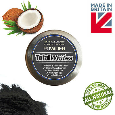 Natural Organic Activated Charcoal Powder Teeth Whitening, Total Whites™