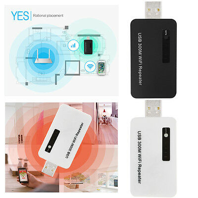 USB 2.0 2.4GHz 300M WiFi Range Extender Wireless Repeater Router Signal Booster