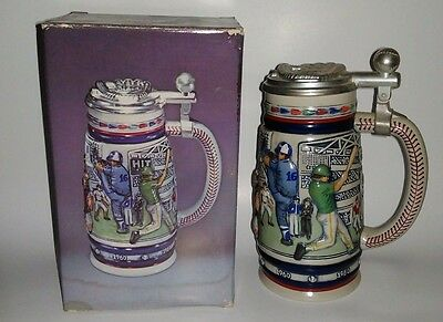 Vintage Avon Great American Baseball Ceramic Beer Stein Hand Crafted Brazil G5