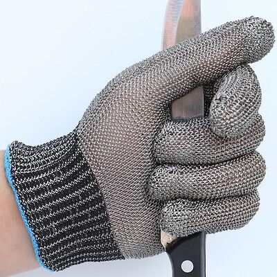 Cut Proof Stab Resistant Stainless Steel Metal Mesh Safety Protective Work Glove