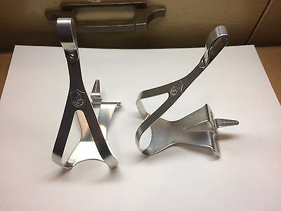 Campagnolo Super Nuovo Record Vintage Bike Pedal Cages/Toe Clips Size Medium NOS