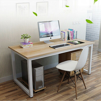 Modern Maple Wooden Computer Laptop PC Home Office Desk / Study Table Bedroom