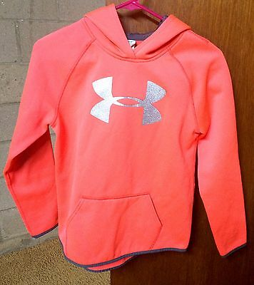 Under Armour Girls Pink & Gray Hoodie Size YL