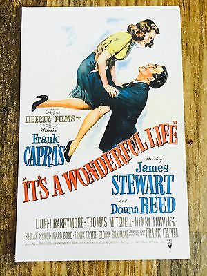 VINTAGE 'Its A Wonderful Life' POSTCARD RARE Collectible