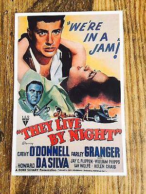 VINTAGE 'They Live By The Night' MOVIE POSTCARD RARE COLLECTIBLE