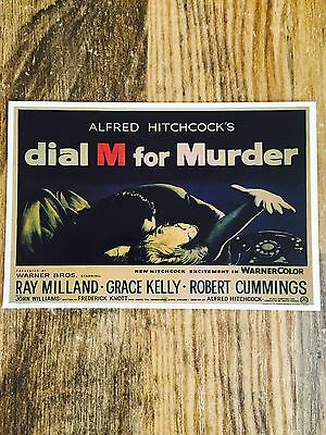 "VINTAGE MOVIE POSTCARD ""Dial M For Murder"" ALFRED HITCHCOCK"