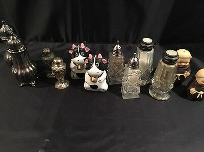 Vintage Antique Lot of 6 Salt and Pepper Shakers
