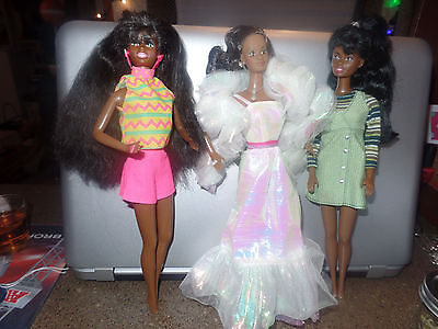 African Barbie doll lot used nice 90s Cristal mixed toys vintage
