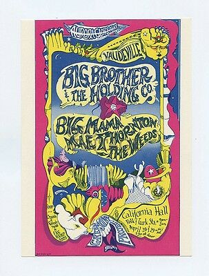 California Hall Handbill AOR 2.152 Big Brother and the Holding Co 1967 Apr 28