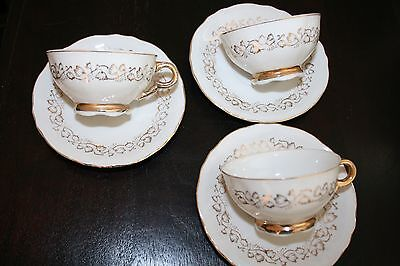 Trio Of Vintage Coffee Cups And Saucers