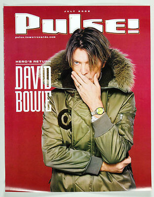 David Bowie PULSE! 2002 July Magazine Cover Poster 18 x 23
