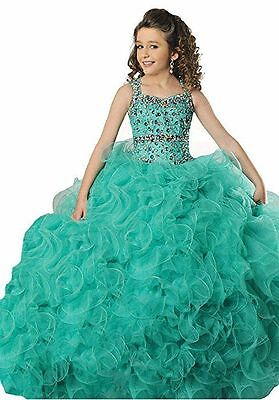 Size10 girls/kids Wedding Birthday Party Princess Pageant Dress Formal Ball Gown