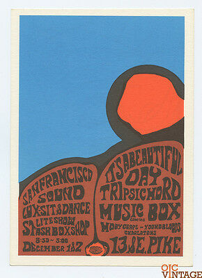 It's a Beautiful Day Moby Grape 1967 Dec 1 San Francisco Sound Seattle Handbill