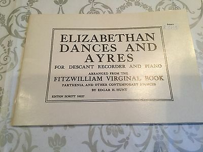 Elizabthan Dances And Ayres For Descant Recorder And Piano