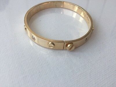 18K Gold Bracelet Solid Screw
