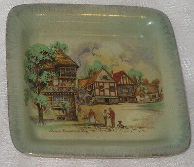 Lancaster and Sandland Porcelain Square Shaped Butter Dish Down Somerset Way
