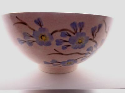 Vintage Radford Fruit Bowl Hand Painted Morning Glory Flowers Summer 21.2Cms